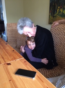 Stefanie Steinberg and her great granddaughter, Noa